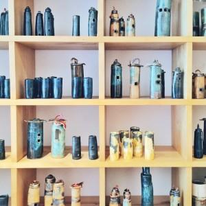 Sandra's stoneware vases and ornaments